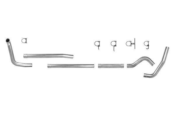 "Diamond Eye Downpipe Turbo Exhaust Steel 3/"" Inlet//Outlet Ford 7.3L Powerstroke"