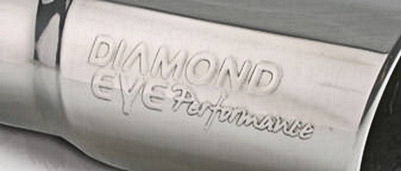 """Steel Wheels For Sale >> Diamond Eye Performance Exhaust Tip, 4"""" Inlet - 5"""" Outlet - 12"""" Long, Logo Embossed, Stainless Steel"""