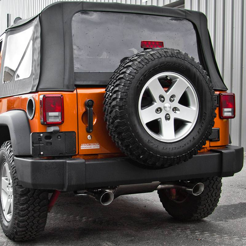 "Jeep 3.6 Engine >> MBRP Axle Back 2.5"" Dual Exhaust Kit, Jeep (2007-2014) JK Wrangler/Rubicon 3.6L/3.8L V6, Dual ..."