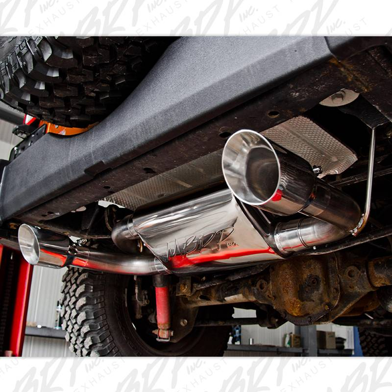 "Jeep Jk Wheels >> MBRP Axle Back 2.5"" Dual Exhaust Kit, Jeep (2007-2014) JK Wrangler/Rubicon 3.6L/3.8L V6, Dual ..."