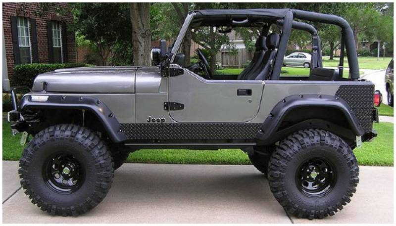 bushwacker fender flares jeep 1997 06 wrangler fender flareset of 4. Cars Review. Best American Auto & Cars Review