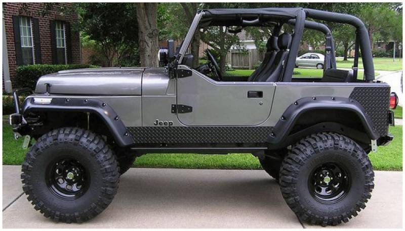 Bushwacker Fender Flares,Jeep (1987-95) Wrangler Set of 4(Cut-Out)