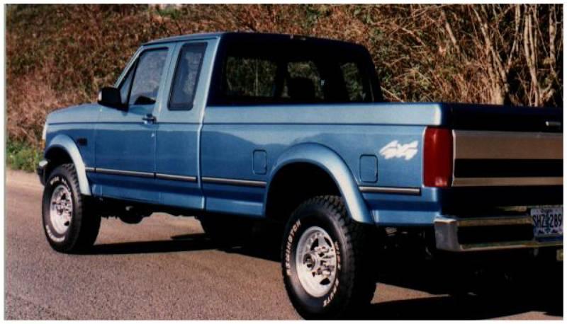 Textured Pocket Fender Flares Fits Ford F-150 F-250 Bronco 92-96 F-350 92-97