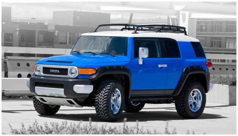 bushwacker flares fj cruiser toyota fender pocket 2007 matte suitable rear