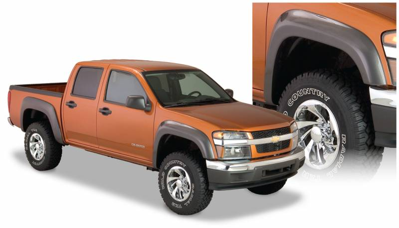 Bushwacker Fender Flares,Chevy / GMC (2004-12) Colorado/Canyon Front Pair(Extend-A-Fender Flare)