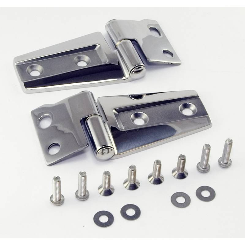 Hood Hinge Kit, Stainless Steel; 07-15 Jeep Wrangler JK