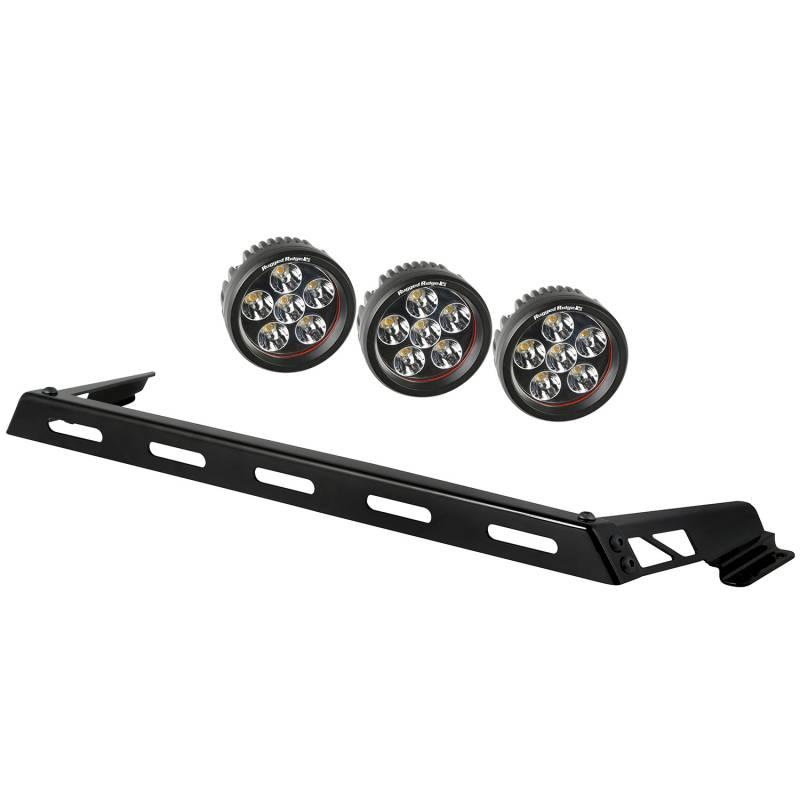 Hood light bar kit 3 round led lights 07 15 jeep wrangler jk Jeep wrangler interior led light kit