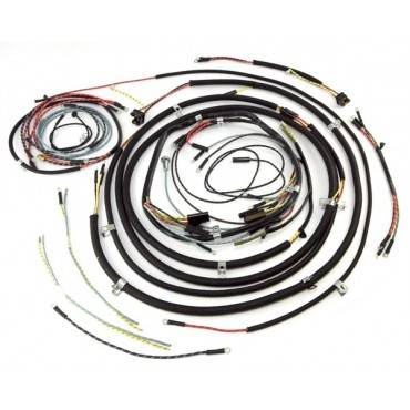 omix ada wiring harness with cloth cover 1957 65 jeep cj5 rh ktperformance net