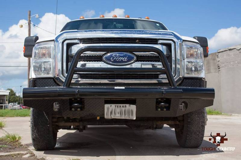Ford F 250 Custom Bumpers : Tough country custom apache front bumper ford  f