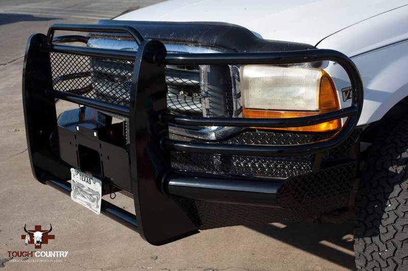 Ford 250 Heavy Duty >> Tough Country Custom Traditional Front Bumper, Ford (2005-07) F-250/F-350/F-450/F-550 Super Duty ...