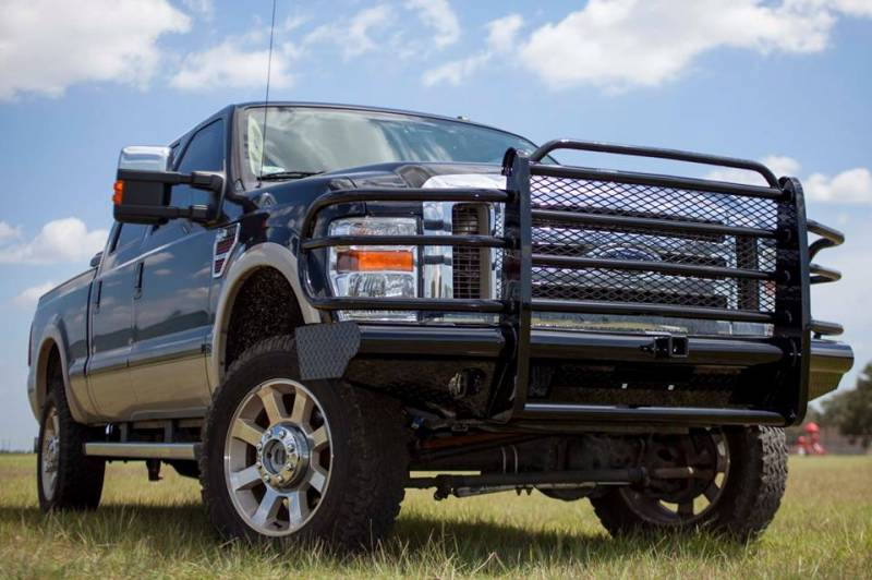 Ford F 250 Custom Bumpers : Tough country custom traditional front bumper ford