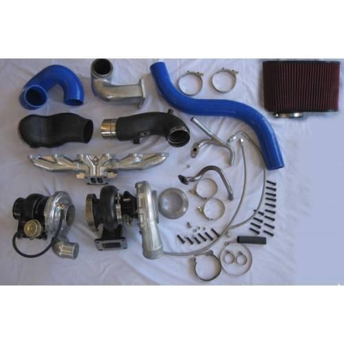 Pusher Cummins Compound Turbo: Diesel Power Source Twin Turbo Kit, Dodge (1998-02) 5.9L
