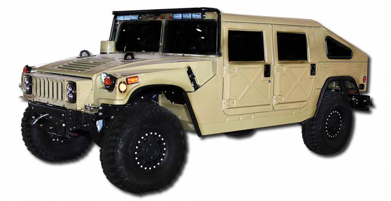 Ava Complete Humvee Hard Top With Roll Cage 4 Door Slant Back