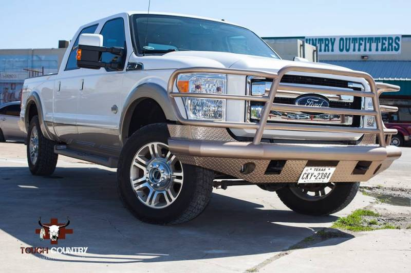 Ford F 250 Custom Bumpers : Tough country custom deluxe front bumper ford f