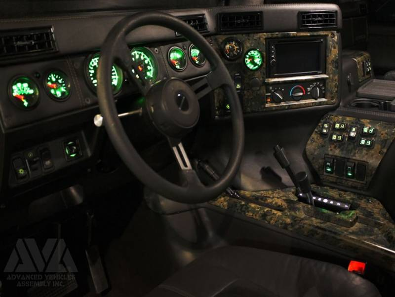 Ava Complete Humvee Interior Kit 4 Door Raw