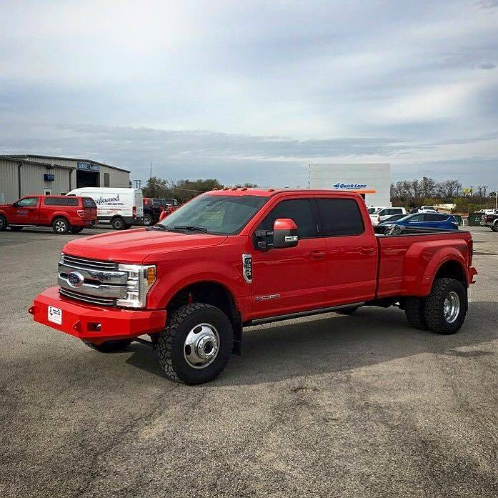 Dually Front Bumpers : Tough country custom evolution front bumper no top ford