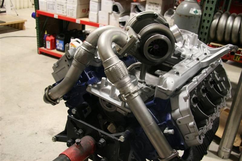 Full Force Diesel Fuel T-4 Turbo Mount Kit, Ford (2003-07) 6 0L