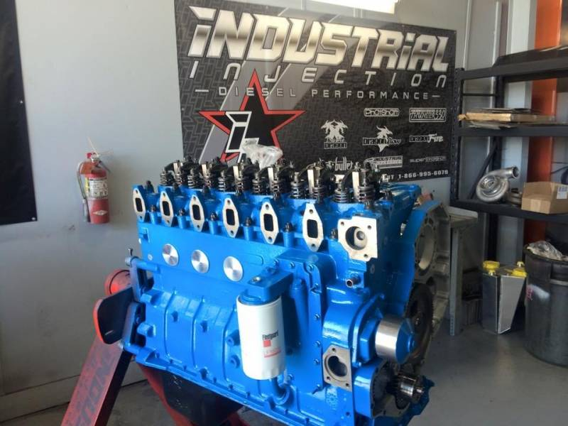 Industrial Injection Stock Long Block Engine, Dodge (1994-98) 5 9L