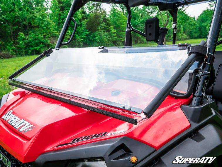 All Weather Tires >> Honda Pioneer 1000 And 1000-5 Flip Down Windshield ...