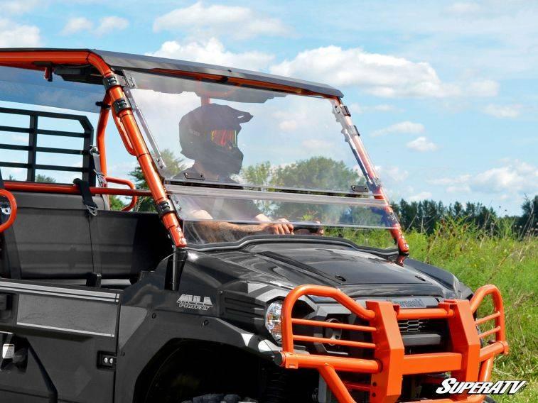 Kawasaki Mule Pro Fxt Scratch Resistant Flip Windshield