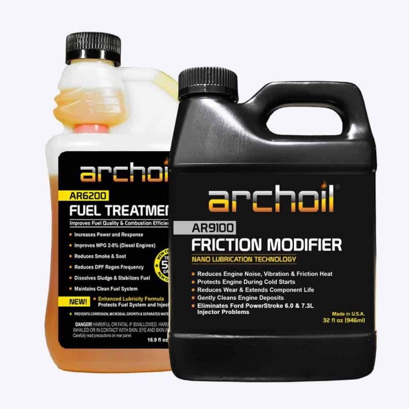archoil - archoil maintenance kit 3 (32oz ar9100 oil treatment & 16oz  ar6200 fuel treatment
