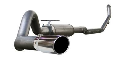 "Exhaust - 4"" Turbo/Down-Pipe Back Single Exit Exhaust"