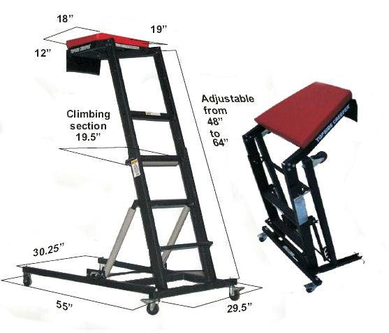 traxion foldable topside creeper