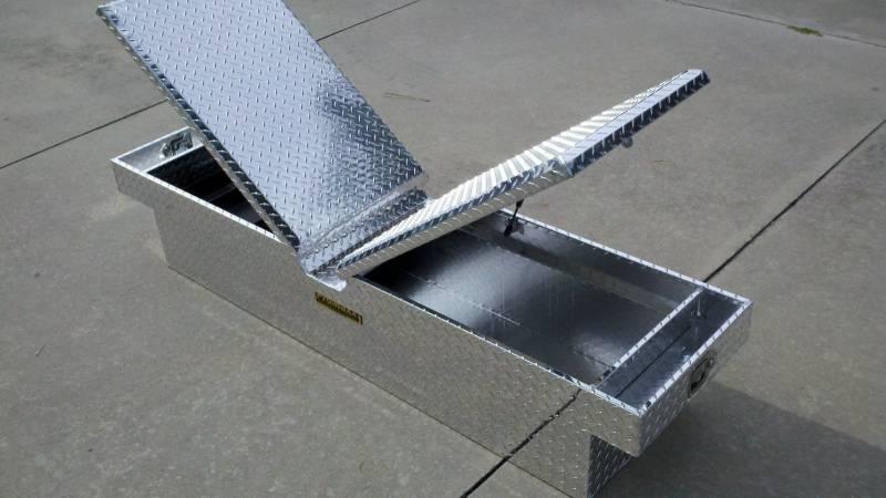"""Truck Exhaust Kits >> Pro Maxx Truck Tool Box, 72""""L x 19""""W x 13""""H Aluminum Diamond Plate, Gull Wing"""