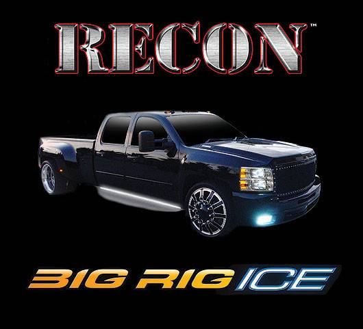 Rig Running Lights : Recon big rig quot ice running lights amber with white
