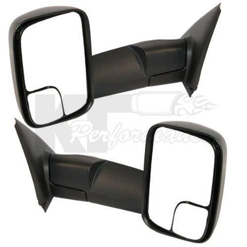 dodge tow mirrors 2002 08 1500 ram 2003 09 2500 3500 ram power heated telescopic. Black Bedroom Furniture Sets. Home Design Ideas
