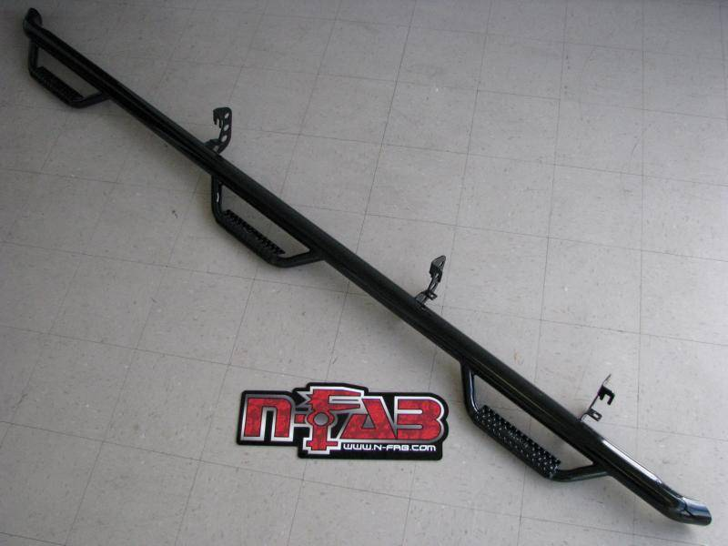 N Fab Nerf Steps Ford 1987 97 F 250 F 350 Crew Cab Long Bed Bed Access 6 Step