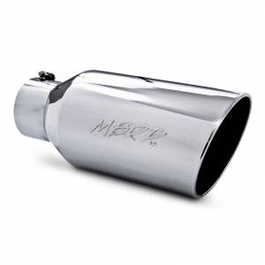 "MBRP - MBRP Exhaust Tip 5"" inlet, 8"" outlet, angle cut 18"" long, T-304 Stainless"