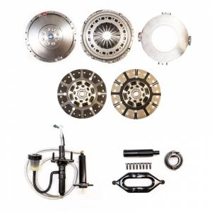 South Bend Clutch - South Bend Clutch Multi-Friction Street Dual Disc Kit, Dodge (2005.5-13) 5.9L & 6.7L 2500/3500 G56, 650hp & 1400 ft lbs of torque (with flywheel & hydraulic assy.)