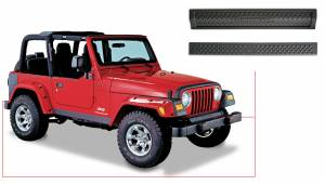 Bushwacker - Jeep Trail Armor Front & Rear Accent - Set - OE Matte Black