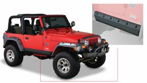 Bushwacker - Bushwacker Fender Flares,Jeep (1997-06) Wrangler Trail Armor Rocker Panel Pair(Pocket Style)