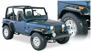 Bushwacker - Bushwacker Fender Flares,Jeep (1987-95) Wrangler Set of 4(Cut-Out)