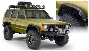 Bushwacker - Bushwacker Fender Flares, Jeep (1984-01) Cherokee Set of 4 OE Matte Black (Flat Style)