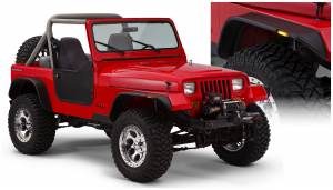 Bushwacker - Bushwacker Fender Flares, Jeep (1987-95) Wrangler Set of 4 OE Matte Black (Flat Style)