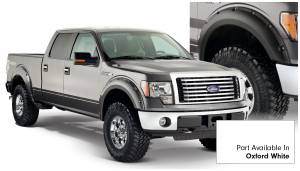 Bushwacker - Bushwacker Fender Flares,Ford (2009-14) F-150 Fender Flare Set of 4 Oxford White(Pocket Style)