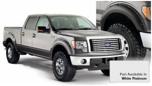 Bushwacker - Bushwacker Fender Flares,Ford (2009-14) F-150 Fender Flare Set of 4 White Platinum(Pocket Style)