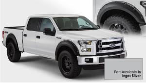 Bushwacker - Bushwacker Fender Flares,Ford (2015) F-150 Fender Flare Set of 4 Ingot Silver(Pocket Style)