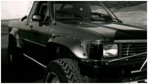 Bushwacker - Bushwacker Fender Flares,Toyota (1984-88) Pickup (1984-89) 4Runner Front Pair(Cut-Out)