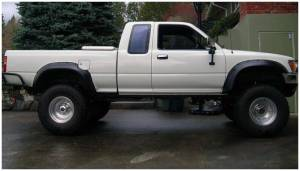 Bushwacker - Bushwacker Fender Flares,Toyota (1989-95) Pickup Rear Pair(Cut-Out)