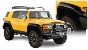Bushwacker - Bushwacker Fender Flares,Toyota (2007-14) FJ Cruiser Set of 4(Extend-A-Fender Flare)