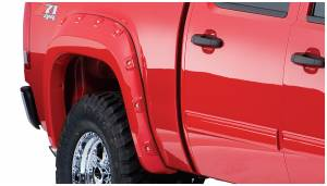 Bushwacker - Bushwacker Fender Flares,GMC Boss (2007-13) 1500 (2007-14) 2500/3500 Fender Flare Rear Pair (Pocket Style)