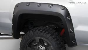 Bushwacker - Bushwacker Fender Flares,GMC Boss (2014-15) 1500 (2015) 2500/3500 Fender Flare Rear Pair(Pocket Style)