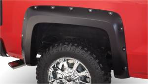 Bushwacker - Bushwacker Fender Flares,Chevy (2014-15) 1500 Fender Flare Rear Pair (Pocket Style)