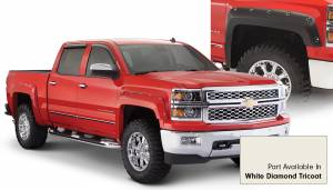 Bushwacker - Bushwacker Fender Flares,Chevy (2014-15) 1500 Fender Flare Set of 4 White Diamond Tricoat(Pocket Style)