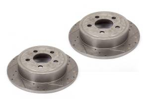 Alloy USA - Disc Brake Rotors (2)F, Drilled and Slotted; 07-15 Jeep Wrangler JK