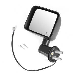 Omix-ADA - Heated Power Mirror, Left, Black; 11-15 Jeep Wrangler JK